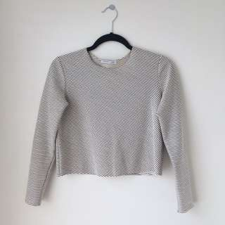 Zara cropped long sleeve top