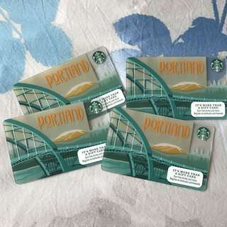 Starbucks Portland card