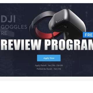 DJI GOOGLES REVIEW PROGRAM
