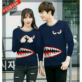 Sweater Couple / Sweater Pasangan / Baju Couple / Baju Pasangan Shark