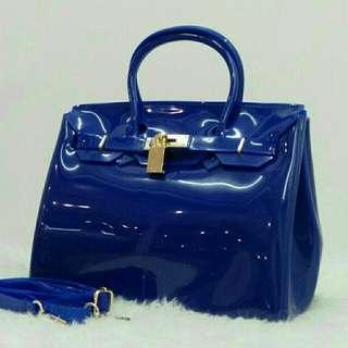 Inspired Designer Birkin Jelly Blue Color