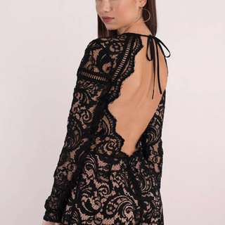 Tobi Black Lace Romper