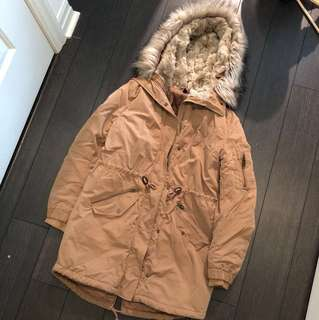 H&M's faux-fur parka coat