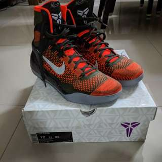 Kobe 9 Elite High Strategy Sequoia Orange size 12US
