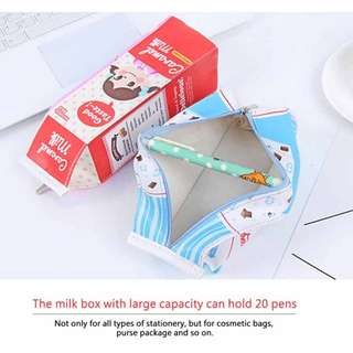 Kawaii Milk Carton Pencil Case (Preorder)