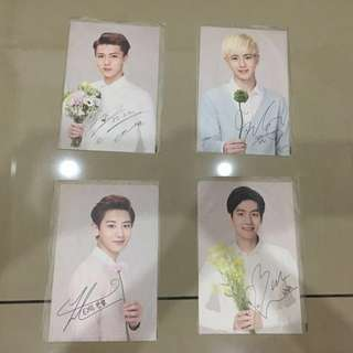 EXO Official Postcards Set(Nature Republic)
