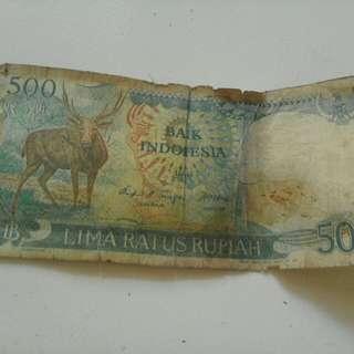 UANG RUPIAH PECAHAN 500 TH 1988