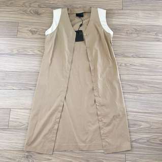 Hotel Particulier Leather Sleeveless Jacket