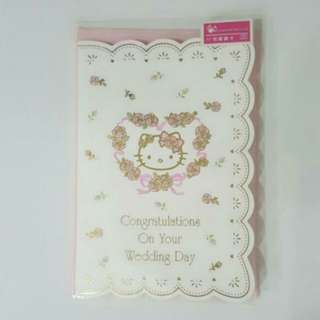 🌹Brand New Hello Kitty 2D Pop-Up Wedding Card + Envelope