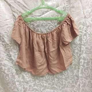 Off Shoulder Pink Top (Forever 21)