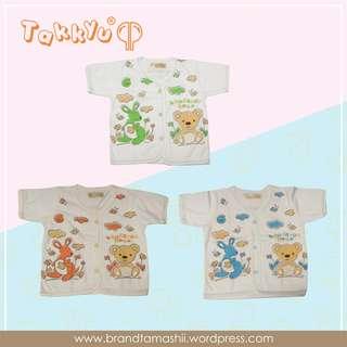 """1 ls baju bayi lengan pendek seri """"Kangaroo Bear"""""""