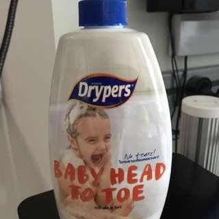 Drypers Head to Toe shower foam - 750ml