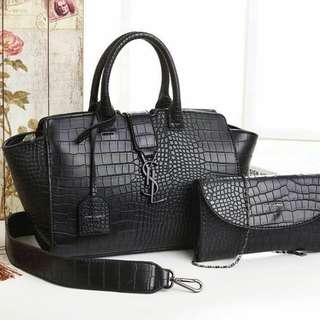 Yves Saint Laurent 2 in 1 Black Bag
