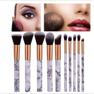 Marbled Make Up Brushes (10-piece)