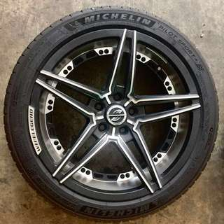 "4mth Old 18"" Rims for Sale with Michelin Tires"