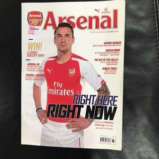 Arsenal Magazine Sep 14 Issue