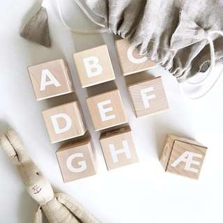 Nordic/Scandinavian Alphabets Wooden Blocks