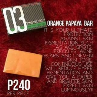 Luxxe soap 03 orange papaya bar