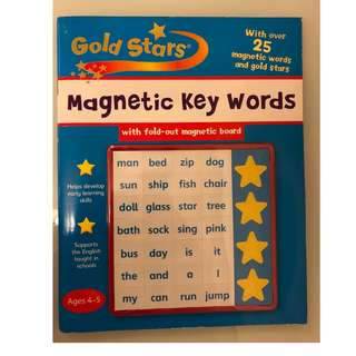 Gold Stars Magnetic Key Words Ages 4-5