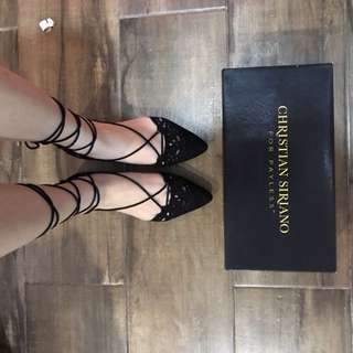 Christian Siriano Tie up shoes
