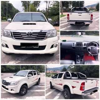 SAMBUNG BAYAR/CONTINUE LOAN   TOYOTA HILUX 2.4 AUTO YEAR 2015 MONTHLY RM 1100 BALANCE 6 YEARS LEATHER SEAT TIPTOP CONDITION  DP KLIK wasap.my/60133524312/hilux
