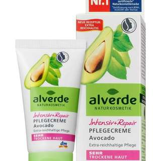 alverde NATURKOSMETIK Day Care Intensive Repair Avocado,50ml