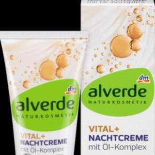 alverde NATURKOSMETIK Night cream Vital +w/ oil complex,50ml