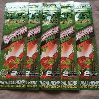 Juicy Jays Strawberry Fields Hemp Wraps