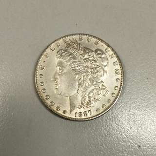 USA 1 dollar 1887