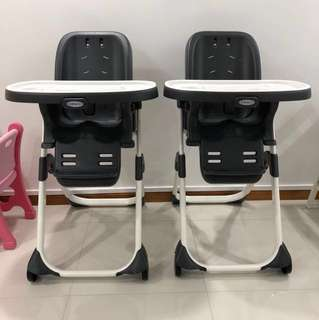 Graco DuoDiner DLX 3 in 1 Convertible High feeding Chair