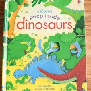 🚚 Usborne Peep Inside Dinosaurs