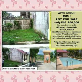 40SQM LOT FOR SALE (for cash buyers only)