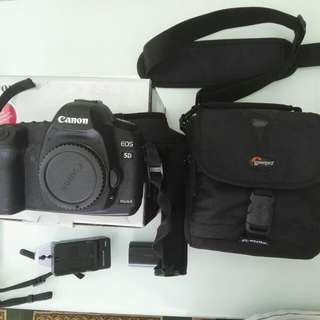 Canon 5D Mark ii Body - MK2 DSLR, Lowepro Camera Bag