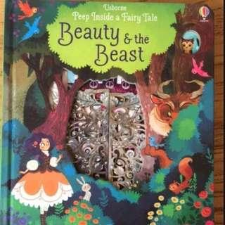 🚚 Usborne Peep Inside a Fairy Tale - Beauty and the Beast