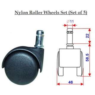 Nylon Castor Wheels Set
