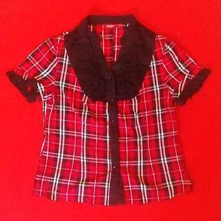 Red Kids Blouse