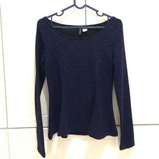 Dark blue stripes shirt (h&m)