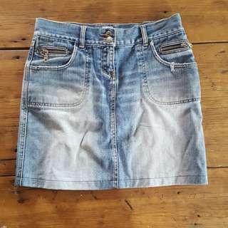 SASS & BIDE ladies denim skirt size 28
