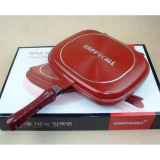 Jual Happy Call Double Pan Jumbo 32cm Teflon Alat Masak Korea