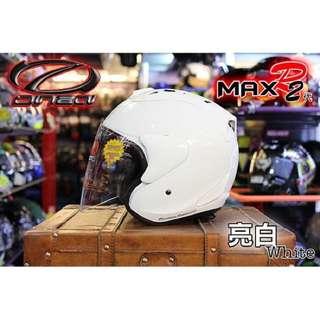 🚚 ☆宥鈞機車騎士精品☆ ONZA MAX-R2 R帽 亮面白色 素色系列現在購買就送原廠鏡片喲