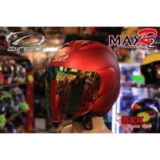 🚚 ☆宥鈞機車騎士精品☆ ONZA MAX-R2  R帽 消光紅色 素色系列現在購買就送原廠鏡片喲