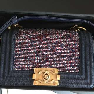 Authentic CHANEL le boy small size