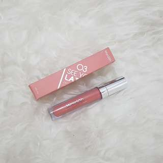 Wardah lip cream 03 see you latte