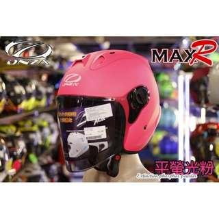 🚚 ☆宥鈞機車騎士精品☆ ONZA MAX-R R帽 消光營粉紅色 素色系列現在購買就送原廠鏡片喲