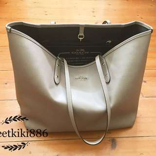 Coach Grey Tote Bag
