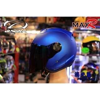 🚚 ☆宥鈞機車騎士精品☆ ONZA MAX-R R帽 消光寶藍色 素色系列現在購買就送原廠鏡片喲