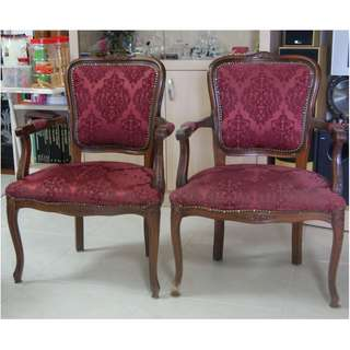 A Pair Of Antique Chairs @$300 per chair