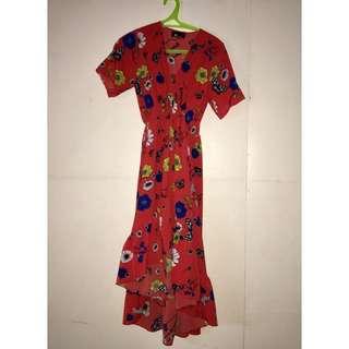 Long back Floral Dress