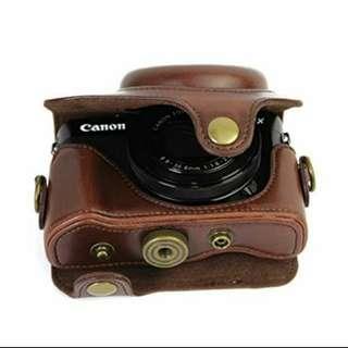 New arrival canon g7x mark 2 dark brown case