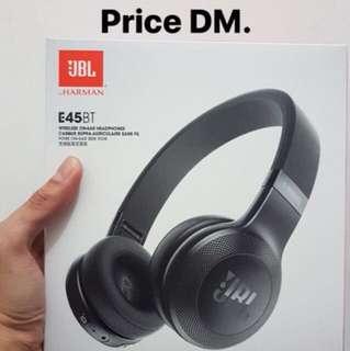 JBL E45BT Wireless On-Ear Headphones Black NEW